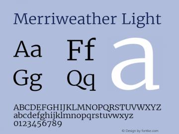 Merriweather Light Version 1.584; ttfautohint (v1.5) -l 6 -r 36 -G 0 -x 10 -H 350 -D latn -f cyrl -w