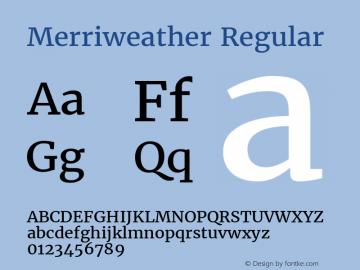 Merriweather Version 1.584; ttfautohint (v1.5) -l 6 -r 36 -G 0 -x 10 -H 350 -D latn -f cyrl -w
