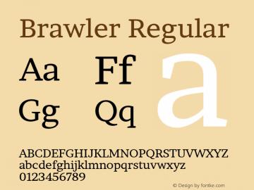 Brawler Regular Version 1.001图片样张