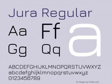 Jura Regular Version 5.101; ttfautohint (v1.6)图片样张