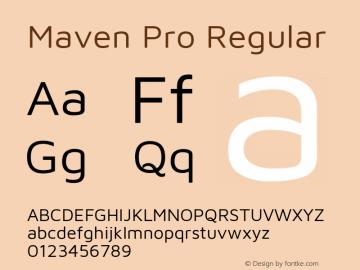 Maven Pro Regular Version 2.003图片样张