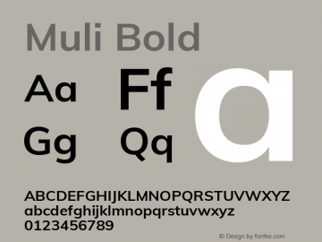 Muli Bold Version 2.000图片样张