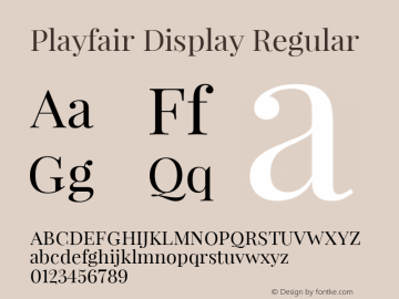 Playfair Display Version 1.033图片样张