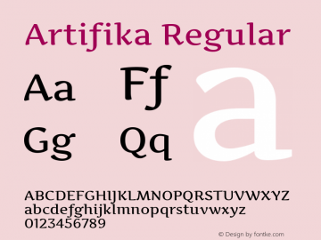 Artifika Regular Version 1.001图片样张