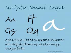 Scripto-SmallCaps Version 001.901图片样张