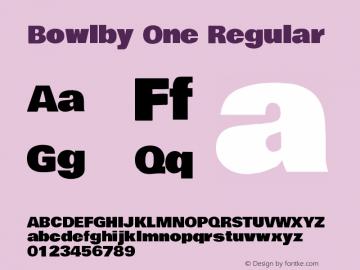 Bowlby One Regular Version 1.001图片样张