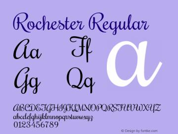 Rochester Regular Version 1.006图片样张