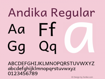 Andika Regular Version 1.001图片样张