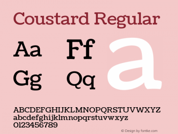 Coustard Regular Version 1.001图片样张