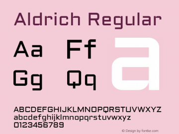 Aldrich Regular Version 1.002 2011图片样张