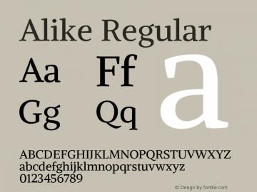 Alike Regular Version 1.213图片样张