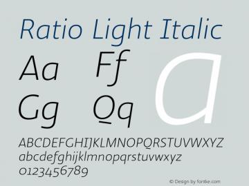Ratio-LightItalic 1.001图片样张