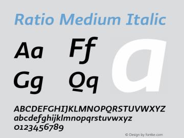 Ratio-MediumItalic 1.001图片样张