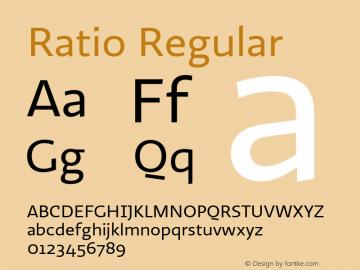 Ratio-Regular 1.001图片样张