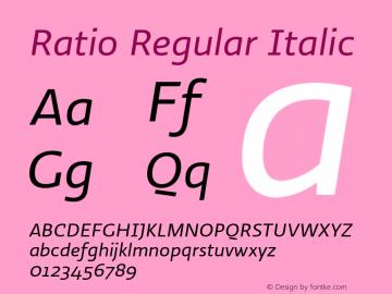 Ratio-RegularItalic 1.001图片样张