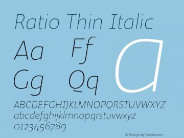 Ratio-ThinItalic 1.001图片样张