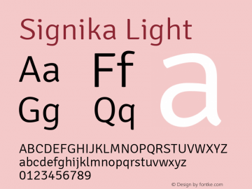 Signika Light Version 1.002图片样张