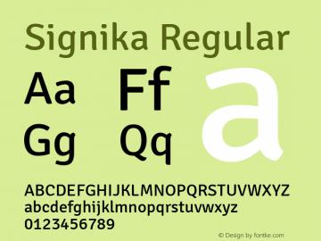 Signika Regular Version 1.002图片样张
