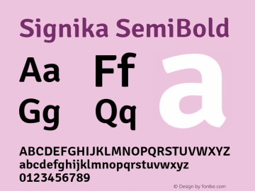 Signika SemiBold Version 1.002图片样张
