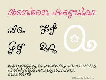 Bonbon Regular Version 1.001图片样张
