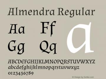 Almendra Regular Version 1.004图片样张