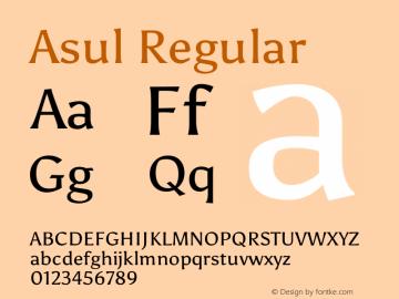 Asul Regular Version 1.002图片样张