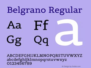 Belgrano Regular Version 1.003图片样张