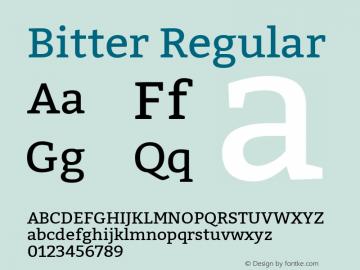 Bitter Regular Version 1.002 Font Sample