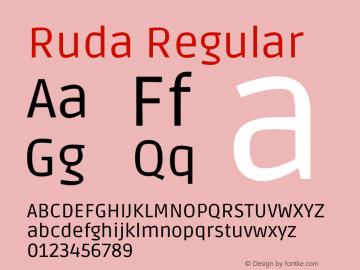 Ruda Regular Version 1.003图片样张