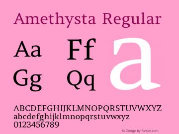 Amethysta Regular Version 1.003图片样张