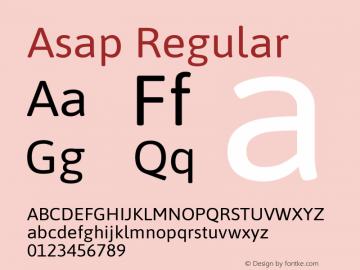 Asap Regular Version 1.010图片样张