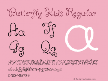 Butterfly Kids Regular Version 1.001图片样张