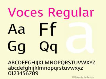 Voces Regular Version 1.100图片样张
