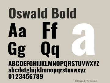 Oswald Bold Version 4.001图片样张
