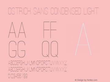 Ostrich Sans Condensed Light Version 1.000图片样张