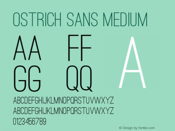 Ostrich Sans Medium Version 1.000图片样张