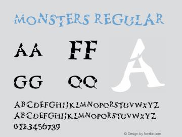 Monsters Regular Version 1.000;PS 001.001;hotconv 1.0.56图片样张