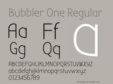 Bubbler One Regular Version 1.002图片样张