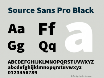 Source Sans Pro Black Version 2.021;PS 2.000;hotconv 1.0.86;makeotf.lib2.5.63406图片样张