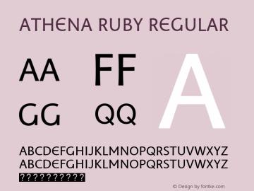 Athena Ruby Version 0.80 build 017图片样张