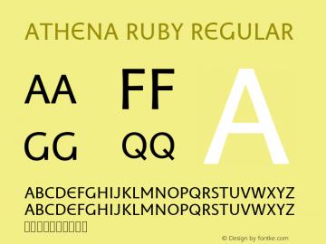Athena Ruby Regular Version 0.80 build 017图片样张