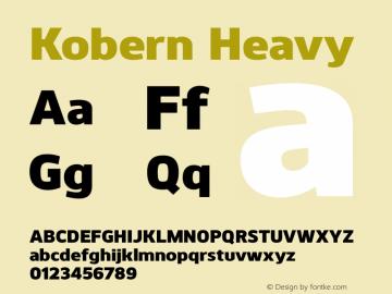 Kobern-Heavy Version 1.001;PS 001.001;hotconv 1.0.56;makeotf.lib2.0.21325图片样张
