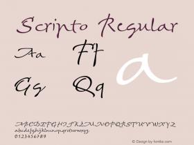 Scripto Version 1.001;PS (version unavailable);hotconv 1.0.70;makeotf.lib2.5.58329图片样张