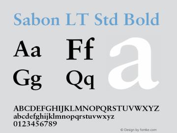 sabon lt std bold font