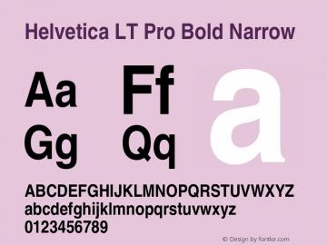 HelveticaLTPro-BdNarrow Version 1.100;PS 001.001;hotconv 1.0.38图片样张