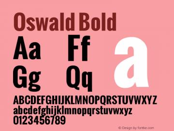 Oswald Bold Version 1.000图片样张