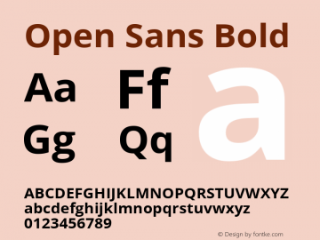 Open Sans Bold Version 1.10图片样张