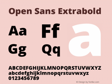 Open Sans Extrabold Version 1.10图片样张