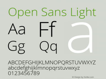 Open Sans Light Version 1.10图片样张