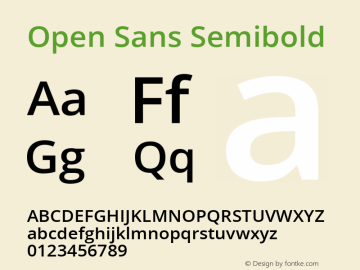 Open Sans Semibold Version 1.10图片样张